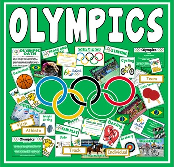 OLYMPICS TEACHING RESOURCES DISPLAY SPORTS GEOGRAPHY RIO 2