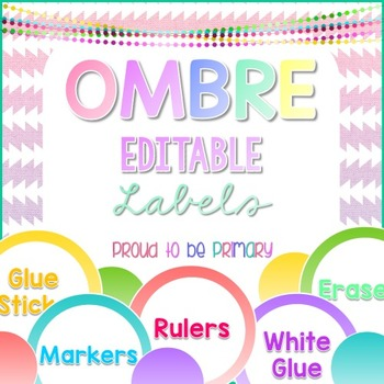 Labels OMBRE EDITABLE