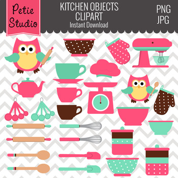 ON SALE Kitchen Clipart // Cooking Clipart // Chef Clipart