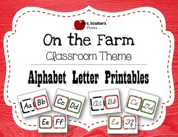 ON THE FARM Classroom Theme ALPHABET LETTER PRINTABLES