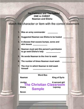 ONE IN CHRIST Naaman and Elisha Lesson Plan
