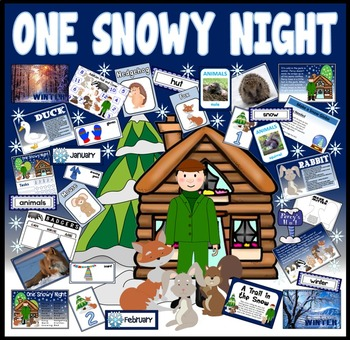 ONE SNOWY NIGHT STORY RESOURCES EYFS KS1 PERCY PARK KEEPER