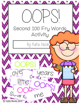 OOPS! Second 100 Fry Words/Sight Words Activity
