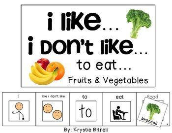 OPINION:I like...I don't like... to Eat... Fruit Vegetable
