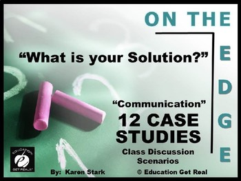 "CTE & ELA – Oral Communication –""Case Studies for Class Di"