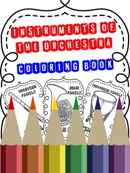ORCHESTRAL INSTRUMENTS COLORING BOOK