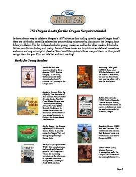 FREEBIE_OREGON TRAIL BOOKLIST