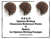 OREO Opinion Writing Reference Chart and Rubric for any Prompt!