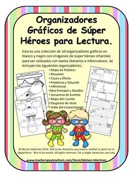 ORGANIZADORES GRAFICOS DE SUPER HEROES / SUPER HERO SPANIS