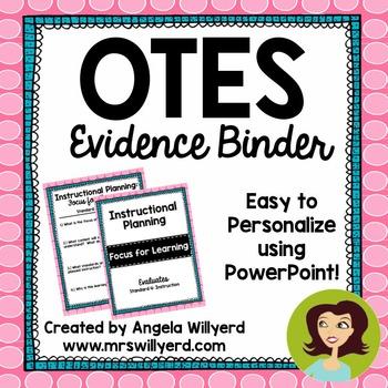 OTES Evidence Binder {Ohio Teacher Evaluation System} Pink