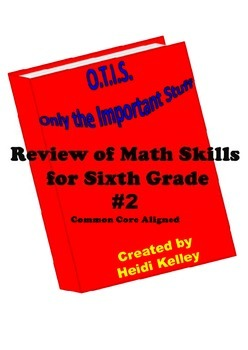 O.T.I.S. Math Skills Review for Sixth Grade #2