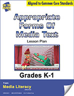 Appropriate Forms of Media Text Lesson Plan (eBook)