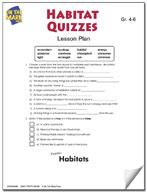 Habitats Quizzes Lesson Plan