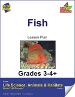 Life Science Animals & Habitats - Fish e-lesson plan & Rea