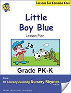 Little Boy Blue Literacy Building Nursery Rhyme Aligned to