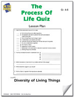 The Process of Life Quiz Lesson Plan