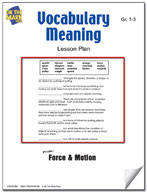 Vocabulary Meaning Lesson Plan