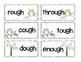 OUGH Word family Phonics Pronounciation sort with assessme