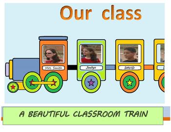 OUR CLASS TRAIN - Beautiful  classroom display