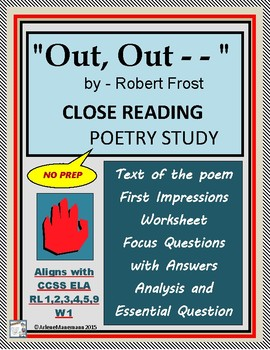 OUT, OUT . . . by Robert Frost; Close Reading