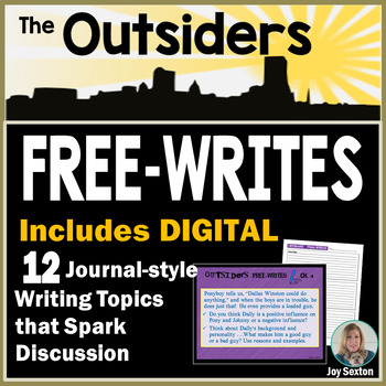 The OUTSIDERS - Free-Writes Journal-style Writing Prompts