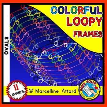 OVAL LOOPY CLIPART FRAMES: OVAL FRAMES CLIPART: LOOPY BORD