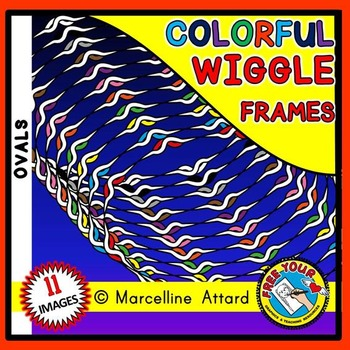 OVAL WIGGLE FRAMES CLIPART: OVAL CLIPART FRAMES