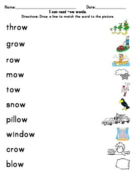OW Phonics practice (long Oo)