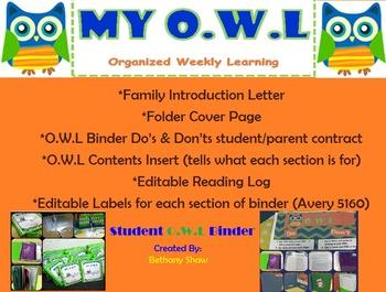 Student O.W.L Binder