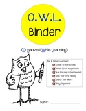 O.W.L. Binder Cover (Organized While Learning)