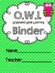O.W.L Binder and Homework Folder