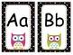 OWL Black Colorful Polka Dot Nameplates, Labels and ABC Wa