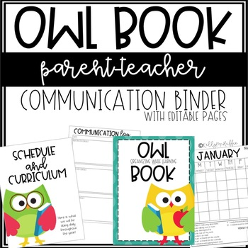 OWL Book Binder EDITABLE