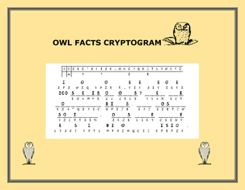 OWL FACTS- CRYPTOGRAM
