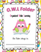 OWL Folder {Organized While Learning} Home and School Conn