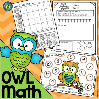 OWL Math - Addition - Subtraction - Roll & Cover - Graphin