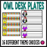 OWLS NAME PLATE SET