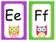 OWL Nameplates, Labels and Alphabet Wall Cards