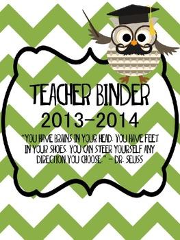OWL Teacher Binder- EDITABLE pages!