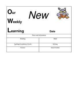 OWL Theme Newsletter