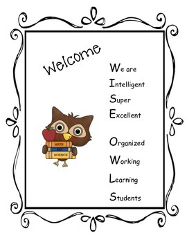 OWL themed signs for Meet the Teacher