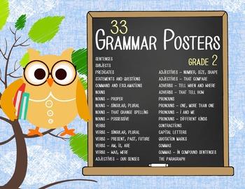 OWLS - 2nd grade GRAMMAR posters / Scott Foresman Reading