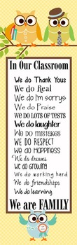 OWLS - Classroom Decor: X-LARGE BANNER, In Our Classroom W