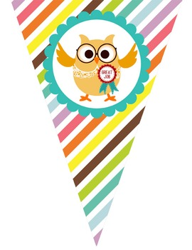 OWLS - Triangle Banners, EDITABLE