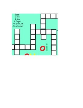 OY and OI Vowel Phonics Practice