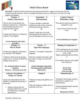 Objective-Choice Board