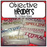 Objective Headers (Color Splash)