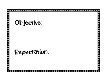 Objective and Expectation Poster