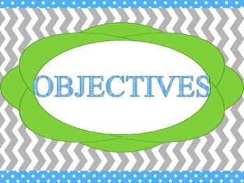 Objective board headings