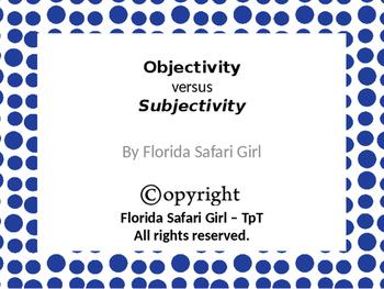 Objective vs. Subjective Reasoning Card Sort